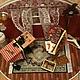 """Кукольный дом ручной работы. Румбокс """"Швейная мастерская"""". Миленькие штучки (chasovschik). Ярмарка Мастеров. Швейная комната, металл"""
