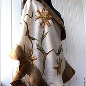 Аксессуары handmade. Livemaster - original item Summer evening - Felted tippet on linen. Handmade.
