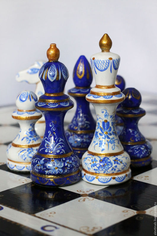 Расписные подарочные деревянные шахматы, сделано в Петербурге,подарок школьнику шахматы,подарок мужчине ,подарочный набор шахмат,эксклюзивные шахматы,авторские шахматы, Алевтина Белякова(Каисса)