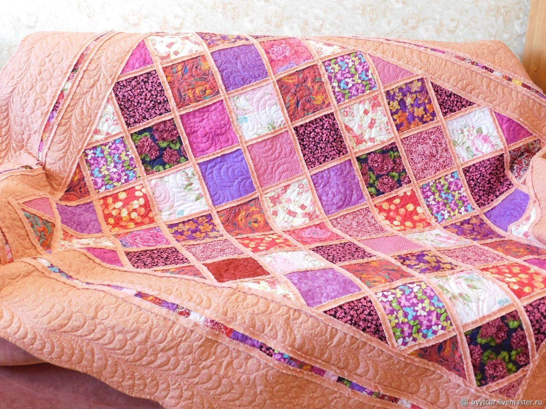 Лоскутное одеяло РАЗНОЦВЕТИЕ, Одеяла, Москва,  Фото №1
