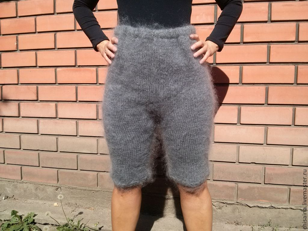 Купить Шорты , рейтузы , панталоны из козьего пуха - серый ...