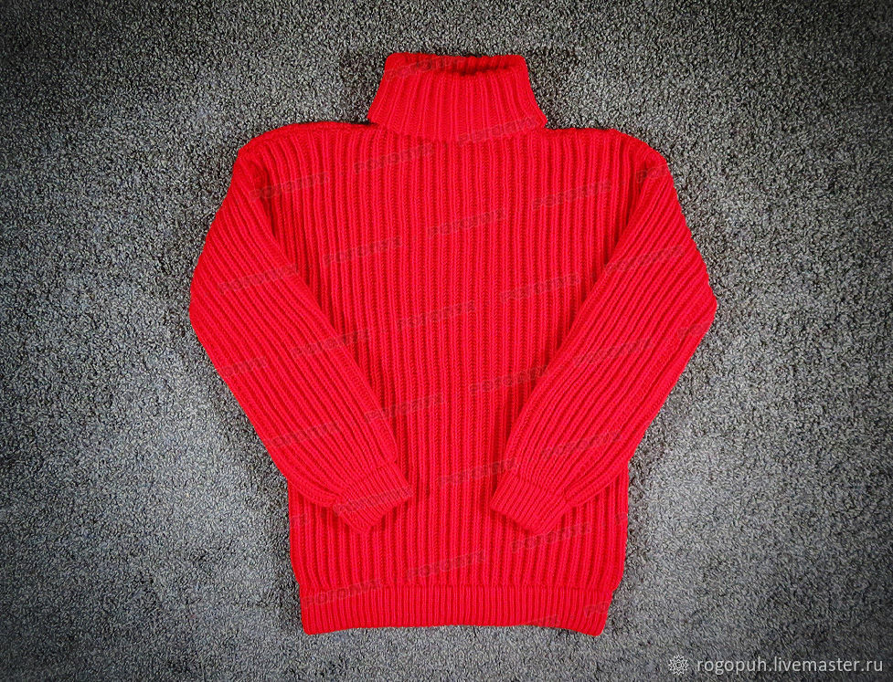 Sweater knitted red (№645), Mens sweaters, Nalchik,  Фото №1