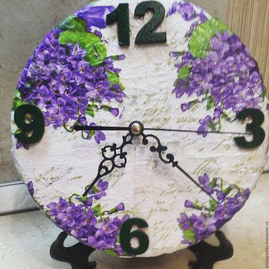 """Часы для дома ручной работы. Ярмарка Мастеров - ручная работа. Купить Часы """"Сирень"""". Handmade. Часы, интерьер"""