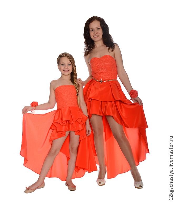 Одинаковые вечерние платья для мамы и дочки интернет магазин