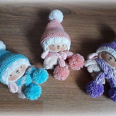 Куклы и игрушки ручной работы. Ярмарка Мастеров - ручная работа Зайки малютки. Handmade.