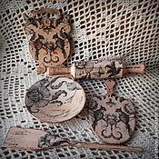 Куклы и игрушки ручной работы. Ярмарка Мастеров - ручная работа Набор для кухни в технике декупаж- игрушки- Кукольный. Handmade.