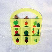 Мягкие игрушки ручной работы. Ярмарка Мастеров - ручная работа Корзинка с овощами. Handmade.