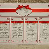 Свадебный салон ручной работы. Ярмарка Мастеров - ручная работа План рассадки Резной. Handmade.
