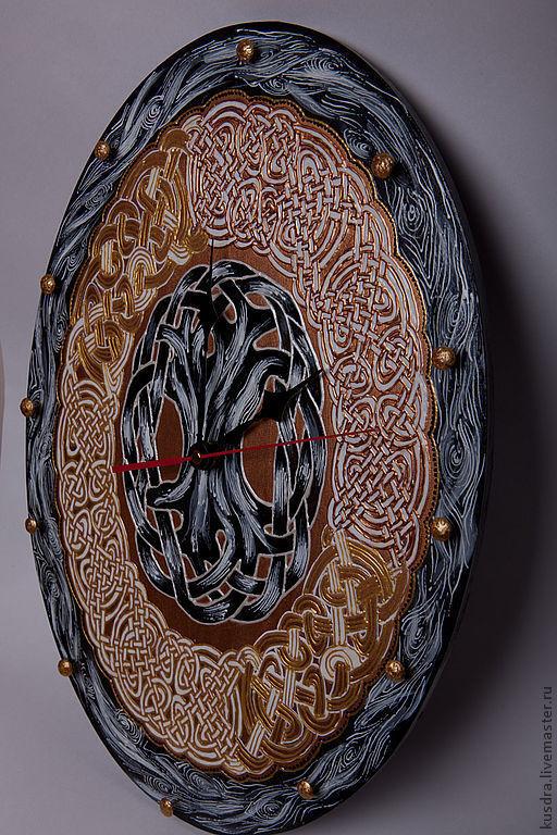 """Часы для дома ручной работы. Ярмарка Мастеров - ручная работа. Купить Кельтские часы """"Древо жизни"""". Handmade. Кельтские орнаменты"""