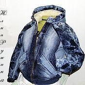 Одежда ручной работы. Ярмарка Мастеров - ручная работа Куртка джинсовая. Handmade.