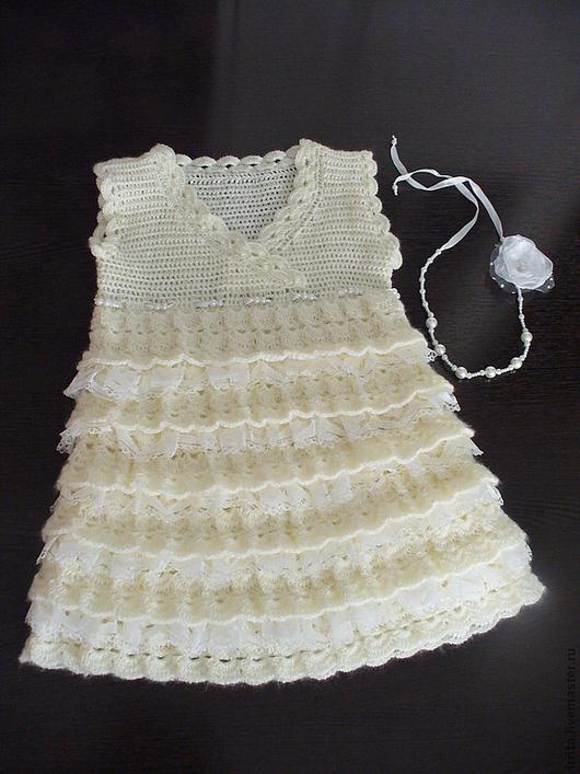 """Платья ручной работы. Ярмарка Мастеров - ручная работа. Купить Платье для девочки """"Зефир"""". Handmade. Одежда для девочек, платье для девочки"""