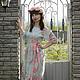 Платья ручной работы. Длинное шелковое платье Утро в саду. Сны о незабудке (snyonezabudke). Ярмарка Мастеров. Вечернее платье, утро