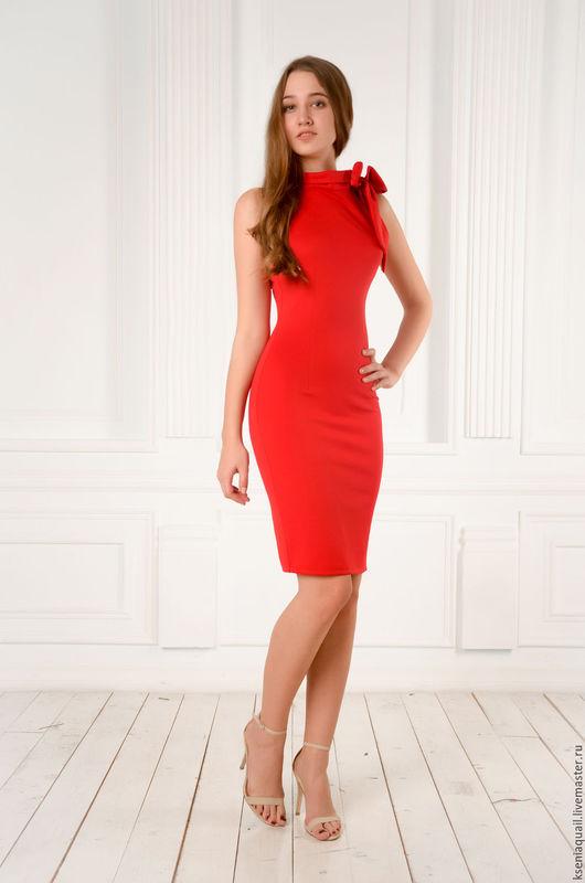 """Платья ручной работы. Ярмарка Мастеров - ручная работа. Купить Платье футляр """"Любовь"""" красное. Handmade. Ярко-красный"""