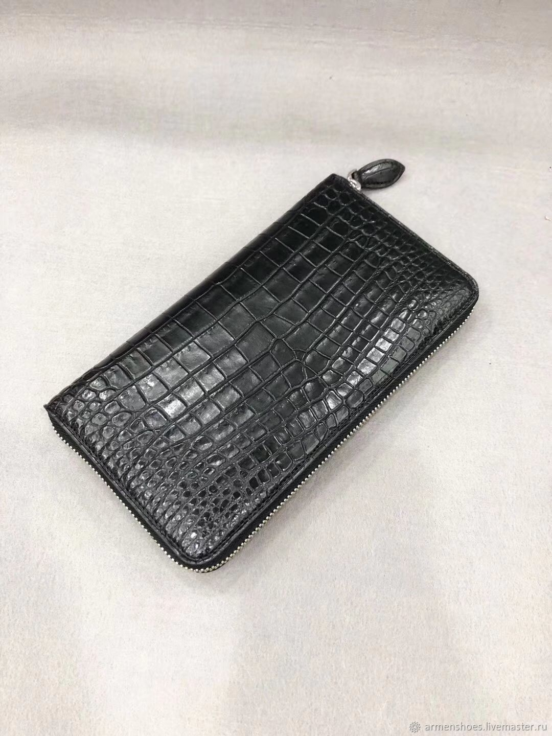 Clutch men's crocodile leather, in black!, Clutches, Tosno,  Фото №1