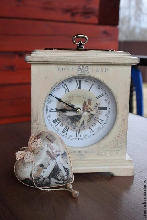 """Часы для дома ручной работы. Ярмарка Мастеров - ручная работа. Купить Часы """"Утро в Париже"""". Handmade. Бежевый, кофе"""