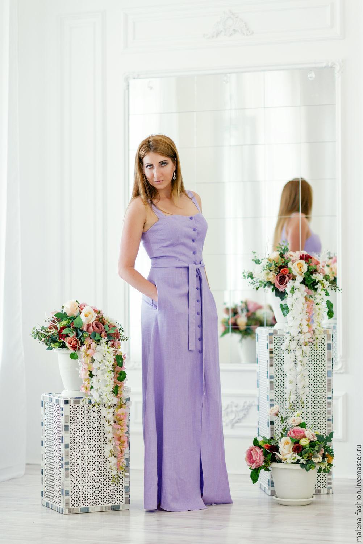 2e5d953b429 Платья ручной работы. Ярмарка Мастеров - ручная работа. Купить Платье  сарафан длинное в пол ...