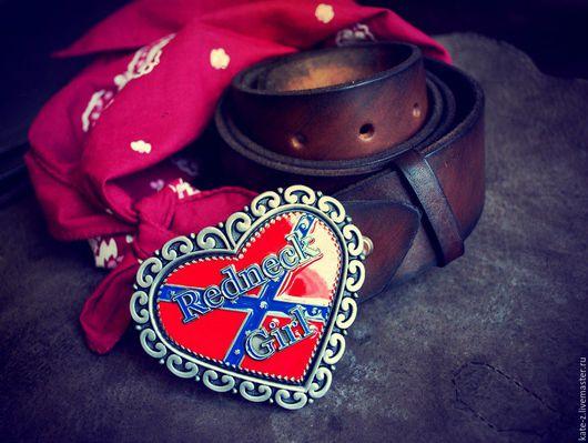Пояса, ремни ручной работы. Ярмарка Мастеров - ручная работа. Купить Ремень из натуральной кожи Redneck Girl женский кожаный ремень. Handmade.