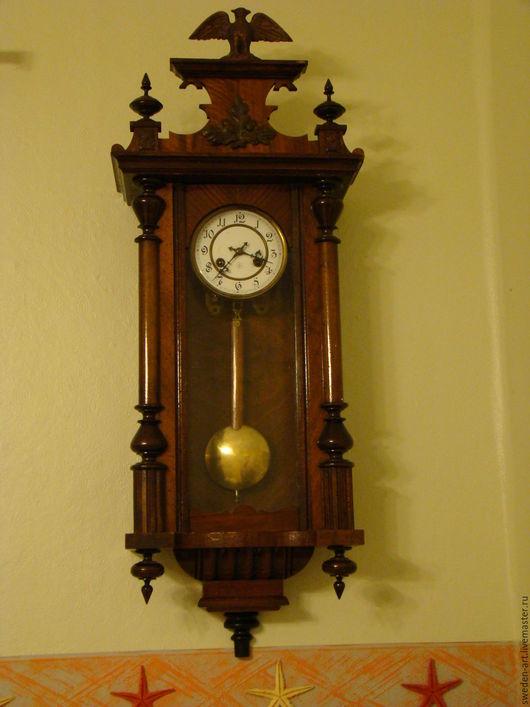 Винтажные предметы интерьера. Ярмарка Мастеров - ручная работа. Купить Антикварные часы маятник - начало 20 века  - Швеция. Handmade.