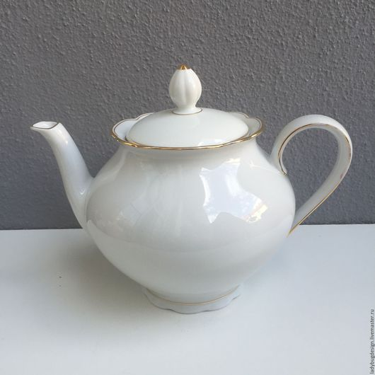 Винтажная посуда. Ярмарка Мастеров - ручная работа. Купить Чайник Seltmann Weiden. Handmade. Белый, немецкий, хранение, чаепитие
