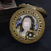 Для дома и интерьера handmade. Livemaster - original item Pocket mirror with a portrait.. Handmade.