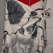 Аксессуары ручной работы. Ярмарка Мастеров - ручная работа Палантин из шерсти Начало зимы. Handmade.
