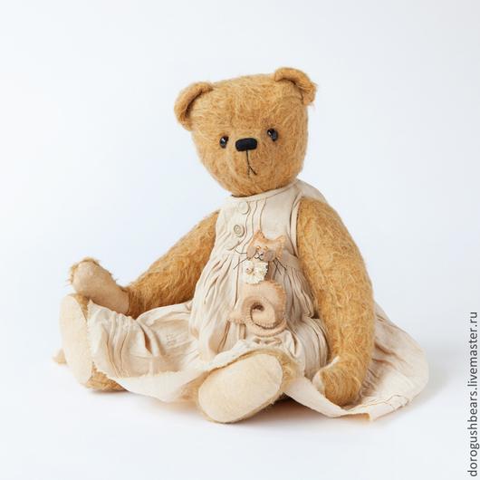 Мишки Тедди ручной работы. Ярмарка Мастеров - ручная работа. Купить Джетта (Jetta). Handmade. Желтый, мишка в одежке