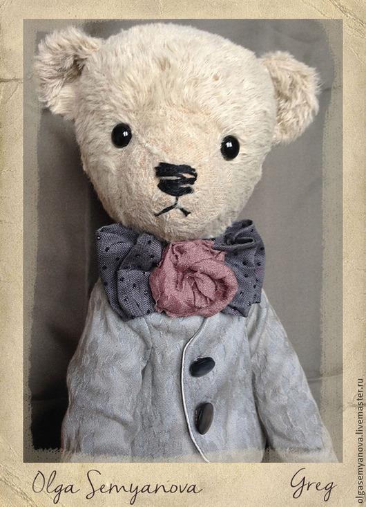 Мишки Тедди ручной работы. Ярмарка Мастеров - ручная работа. Купить Грег. Handmade. Бледно-розовый, единственный экземпляр, шёлк