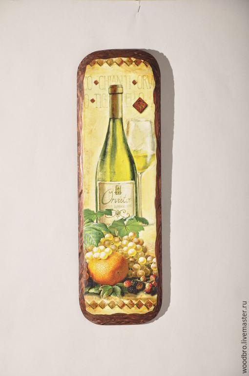 """Натюрморт ручной работы. Ярмарка Мастеров - ручная работа. Купить Панно настенное """"Белое вино"""". Handmade. Панно, панно настенное"""