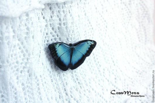 """Броши ручной работы. Ярмарка Мастеров - ручная работа. Купить Брошь """"Бабочка"""". Handmade. Голубой, бабочка, весна, ярко синий"""