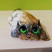 Для дома и интерьера handmade. Livemaster - original item Sculpture of natural Ural stone anhydrite cat. Handmade.