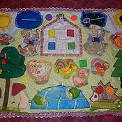 """Куклы и игрушки ручной работы. Ярмарка Мастеров - ручная работа Развивающий коврик """"В гостях у Кеши"""". Handmade."""