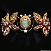 Украшения handmade. Livemaster - original item Diadema OLYMPUS, swarovski, beads, sequins, GIMP, pearl. Handmade.