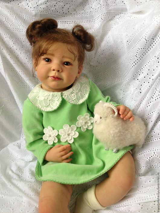 Куклы-младенцы и reborn ручной работы. Ярмарка Мастеров - ручная работа. Купить Кукла реборн Эмилия.. Handmade. Кремовый, винил