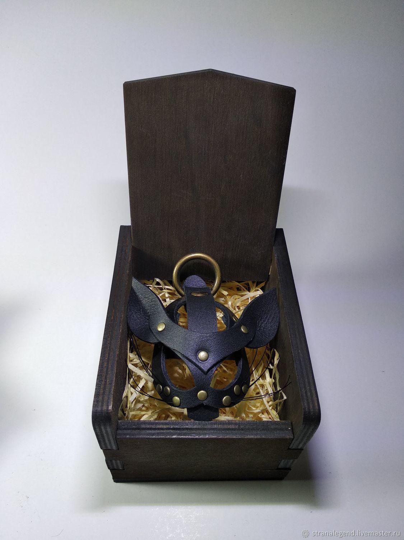 Брелок- подвес из кожи Kitsune, Брелок, Симферополь,  Фото №1