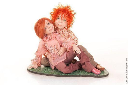 Коллекционные куклы ручной работы. Ярмарка Мастеров - ручная работа. Купить Летний вечер. Handmade. Кремовый, авторская кукла, зеленый