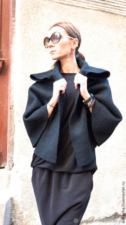 Жакет-Болеро  Black Wool Blend, Пальто, София, Фото №1