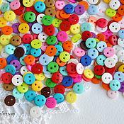 Материалы для творчества handmade. Livemaster - original item Buttons 9 mm two flat. Handmade.