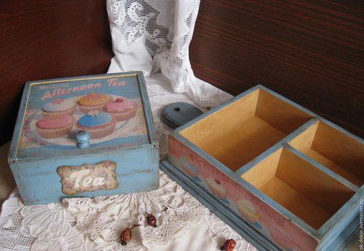 Кухня ручной работы. Ярмарка Мастеров - ручная работа. Купить Набор для кухни  Приглашение к чаю  голубой розовый. Handmade.