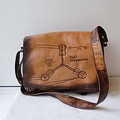 handmade. Livemaster - original item Leather bag with Two-in-one engraving to order for Artem.. Handmade.