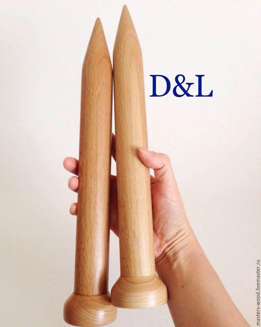Вязание ручной работы. Ярмарка Мастеров - ручная работа. Купить Толстые деревянные спицы 30 мм. Handmade. Спицы