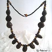 Украшения ручной работы. Ярмарка Мастеров - ручная работа Ожерелье из масличной африканской пальмы. Handmade.