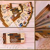 Подарки к праздникам ручной работы. Ярмарка Мастеров - ручная работа Чековая книжка на 12 желаний с Пин-Ап. Handmade.