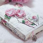 """Канцелярские товары ручной работы. Ярмарка Мастеров - ручная работа Блокнот """"Сказка для юной принцессы"""" в тканевой обложке. Handmade."""