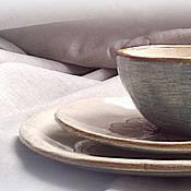 "Посуда ручной работы. Ярмарка Мастеров - ручная работа Набор для завтрака ""Тёплый"". Handmade."