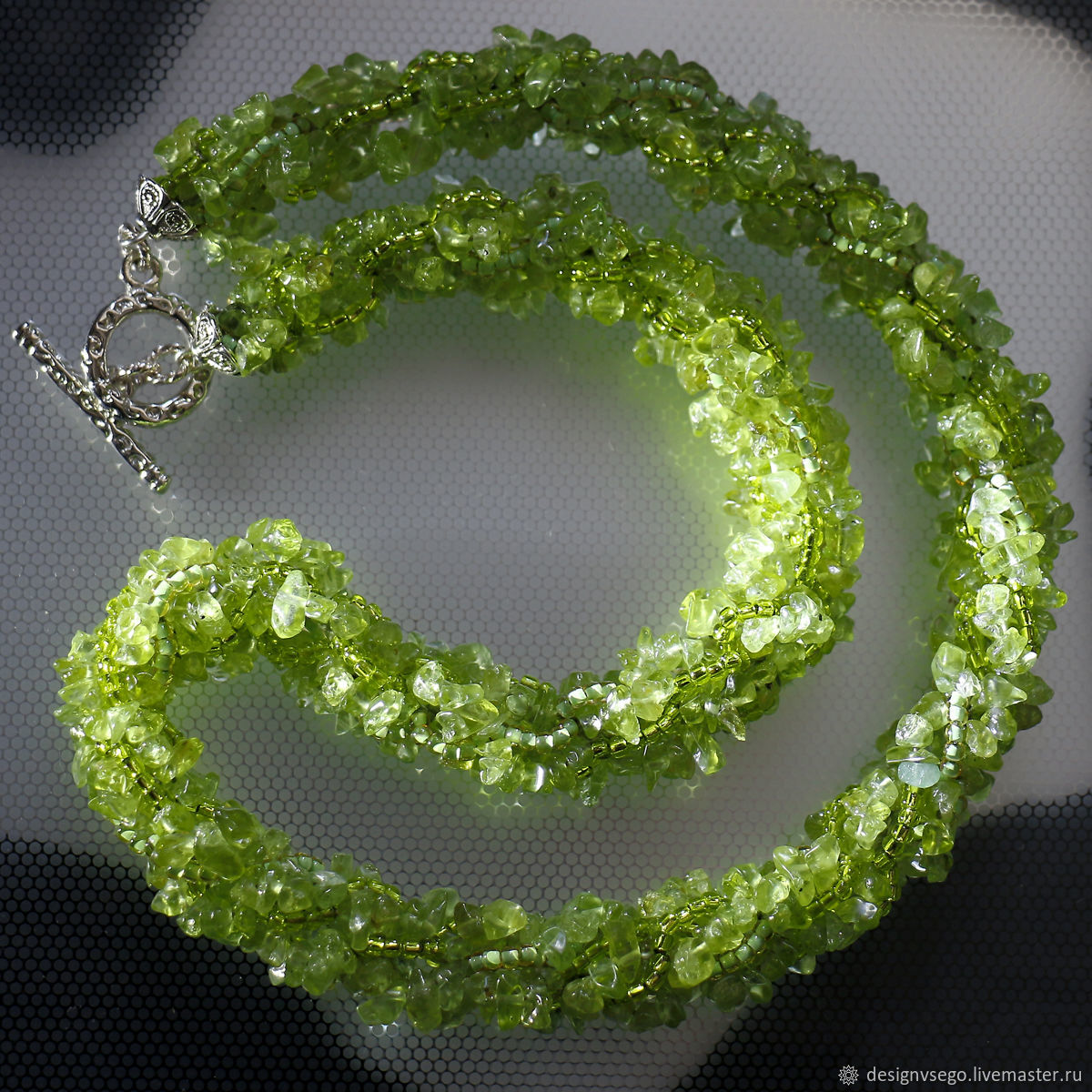 Chrysolite necklace, Necklace, Moscow,  Фото №1
