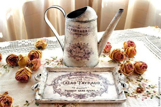 """Кухня ручной работы. Ярмарка Мастеров - ручная работа. Купить Лейка"""" Париж"""". Handmade. Белый, лейка для цветов"""