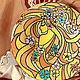 Декоративная стеклянная тарелка,  точечная роспись Сувенир. Весна. Девушка. Золото. Тарелка. подарок на 8 марта красивый подарок на 8 марта дорогой подарок  8 марта женщине жене теще подруге