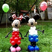 Подарки к праздникам ручной работы. Ярмарка Мастеров - ручная работа Микки-маус и Минни-маус из воздушных шаров.Хит!. Handmade.
