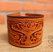 Украшения ручной работы. Ярмарка Мастеров - ручная работа Кожаный браслет в кельтском стиле Дракоши. Handmade.