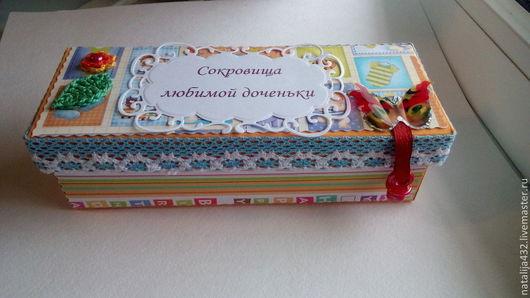 """Подарки для новорожденных, ручной работы. Ярмарка Мастеров - ручная работа. Купить шкатулка """"Мамины сокровища"""". Handmade. Разноцветный, коробочка"""